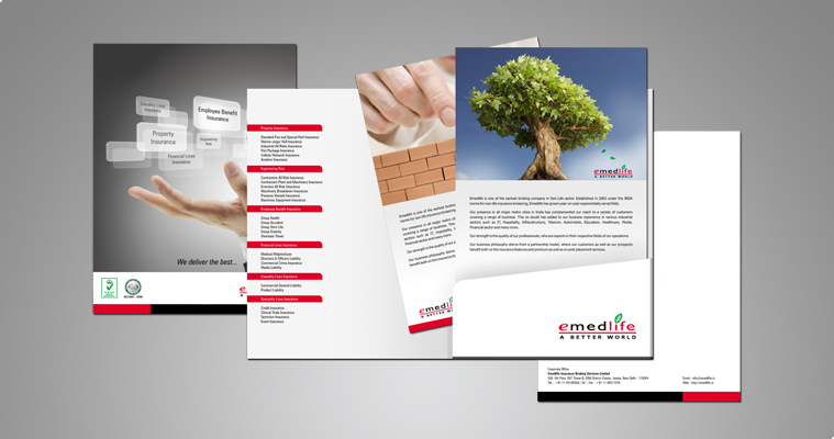 Brochure design for broking company in non life insurance brokering emedlife insurance broking services limited brochure altavistaventures