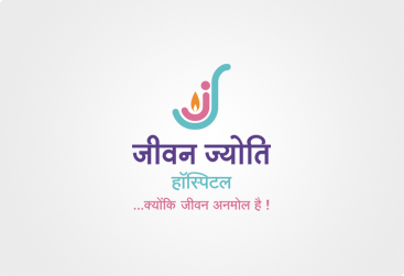 corporate identity with design for jeevan jyoti hospital