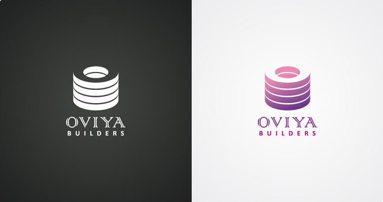 Oviya Builders Logo Design