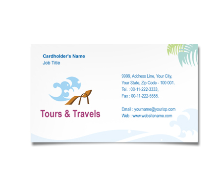 Complete Business Card  View with Layout For Tours And Travel Agency