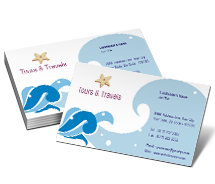 Business Card Templates tours agents