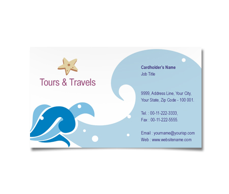 Complete Business Card  View with Layout For Tours Agents