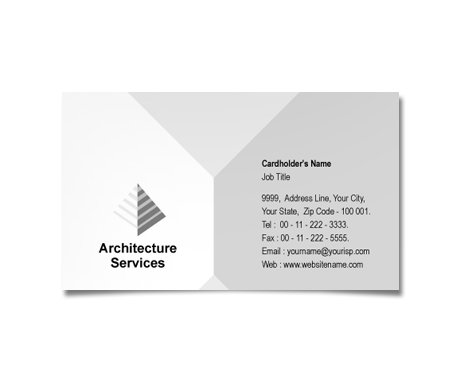 Complete Business Card  View with Layout For Architecture Style