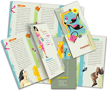 Complete Brochure  View with Layout For Fashion Accessories