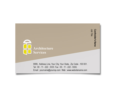 Complete Business Card  View with Layout For Architecture Firms