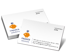 Finance Business Finance Solutions business-card-templates