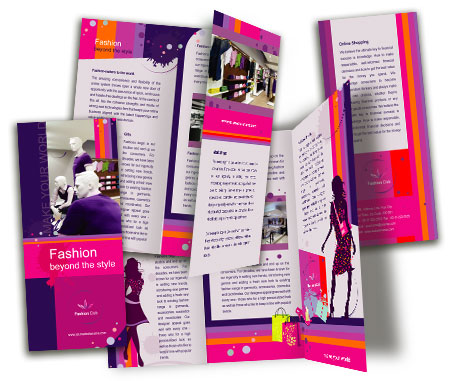 Complete Brochure  View with Layout For New Fashion Shop