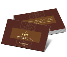 Business Card Templates Hotels Luxury Hotel