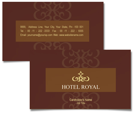 Complete Business Card  View with Layout For Luxury Hotel