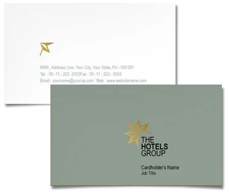 Complete Business Card  View with Layout For Hotels Group