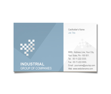 Complete Business Card  View with Layout For Industrial Products