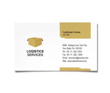Complete Business Card  View with Layout For Logistic Management Services