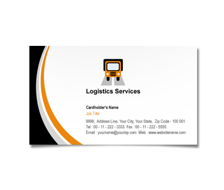 Complete Business Card  View with Layout For Transportation And Logistics