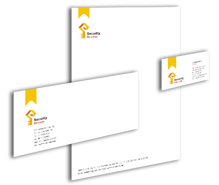 Complete Corporate Identity  View with Layout For Brick House Security