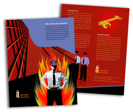 Complete Brochure  View with Layout For Security System House