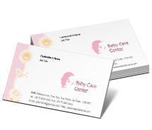 Business Card Templates babies care centre