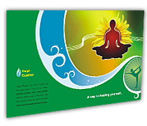 Post Card Templates yoga centre