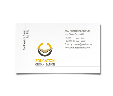 Complete Business Card  View with Layout For Education Programs