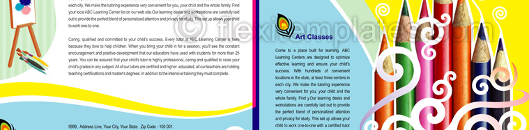 Actual Brochure  Design For School of Arts