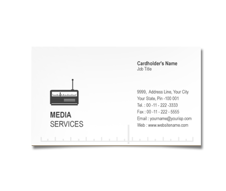 Complete Business Card  View with Layout For Radio Channels