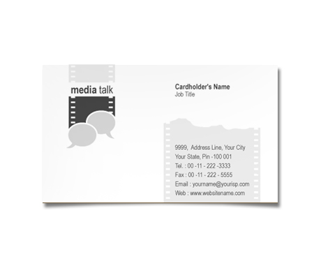Complete Business Card  View with Layout For Film Institutes
