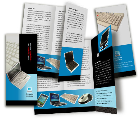 Complete Brochure  View with Layout For Computer Hardware