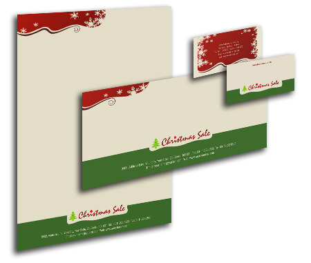 Complete Corporate Identity  View with Layout For Christmas Gift Shop