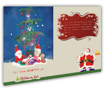 Post Card Templates Stores & Shops Christmas Gift Shop