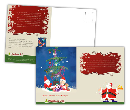Complete PostCard s View with Layout For Christmas Gift Shop