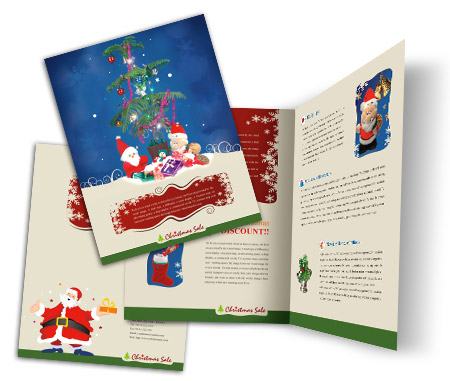 Complete Brochure  View with Layout For Christmas Gift Shop