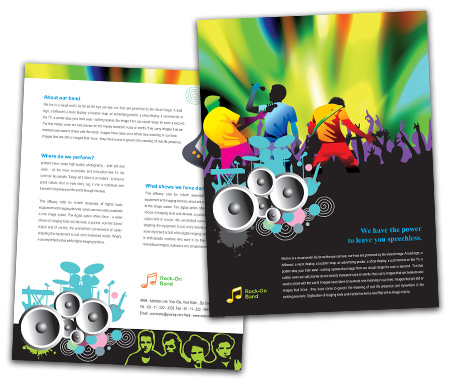 Complete Brochure  View with Layout For Rock Band
