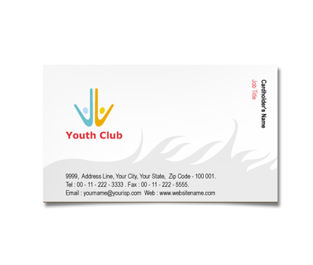 Complete Business Card  View with Layout For Youth Club Center