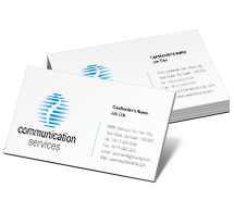Business Card Templates Communications Communication Services