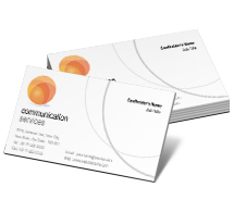 Business Card Templates communication service centre