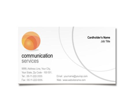 Complete Business Card  View with Layout For Communication Service Centre