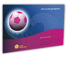 Post Card Templates football club