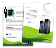 Brochure Templates Computers Domain Hosting Services