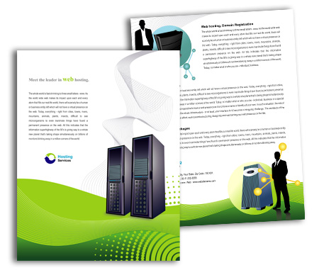 Complete Brochure  View with Layout For Domain Hosting Services