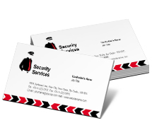 Business Card Templates security guard services