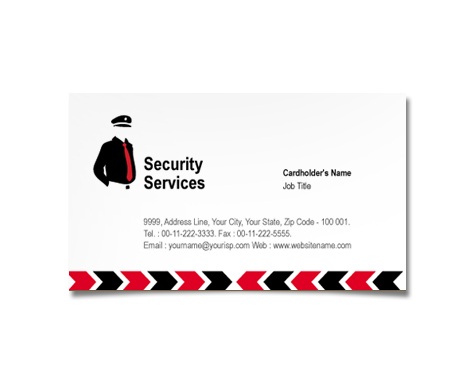 Complete Business Card  View with Layout For Security Guard Services
