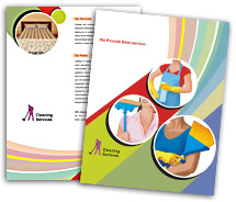 Brochure Templates cleaning service industry