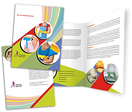 Complete Brochure  View with Layout For Cleaning Service Industry