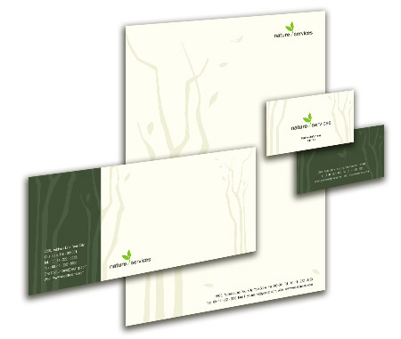 Complete Corporate Identity  View with Layout For Rainforests