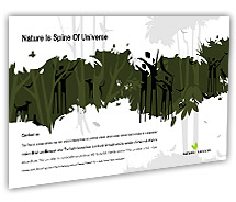Post Card Templates rainforests