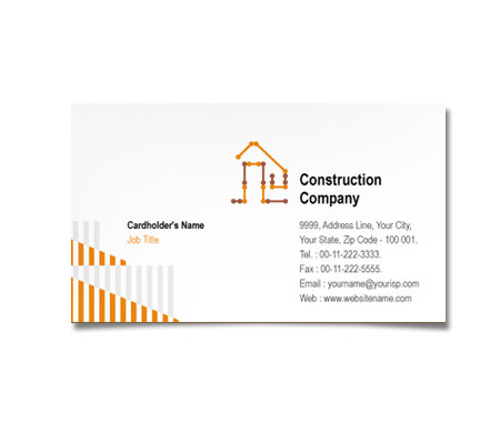 Complete Business Card  View with Layout For Building Plans