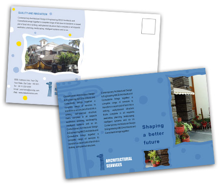 Complete PostCard s View with Layout For Residential Architect