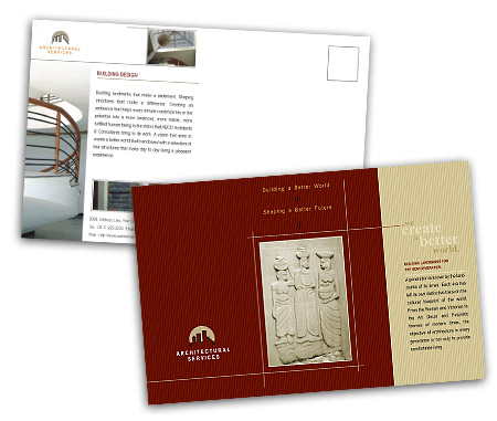 Complete PostCard s View with Layout For Architectural Drafting Service