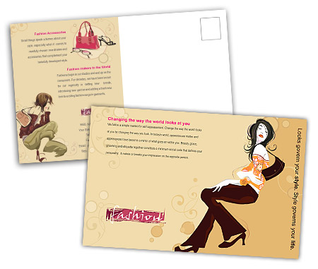 Complete PostCard s View with Layout For Beauty Salon