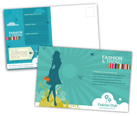 Complete PostCard s View with Layout For Fashion Styles Store
