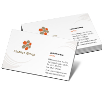 Finance Financing Group business-card-templates